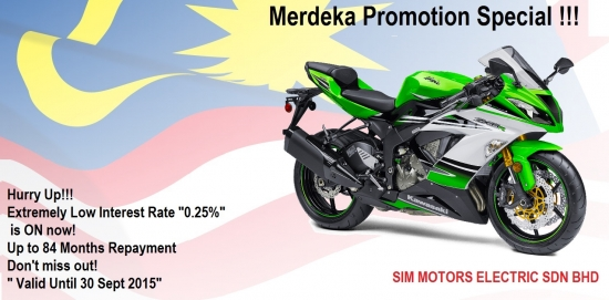 Kawasaki ZX-6R ABS -30th Ann.- Merdeka'15 ~ Promotion