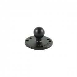 "RAM 2.5"" Round Ball Base with the AMPs Hole Pattern & 1"" Ball"